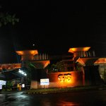 the Santika TMII at night