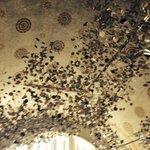 ceiling in foyer of hotel