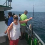 Marathon Lady Fishing Boat - Although this fish is small it WAS my first one ever!  It was delic