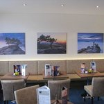 Beautiful pictures at the hotel's bar