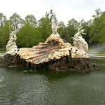 The Clivedon fountain on the main aproach