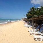 Estrutura de praia do resort