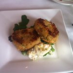 Crab cakes were quite generous with sweet, succulent Dungeness crab and with a delicious aoli ma