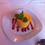 Mango mousse - one of Max's signature desserts