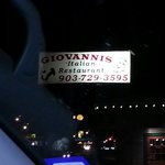 Giovanni's road sign, easy to find