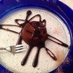 Soufflé al cioccolato con cuore caldo di cacao.