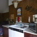 """Kitchen in """"Uncorked"""" room"""