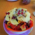 delightful salad w/ mango dressing