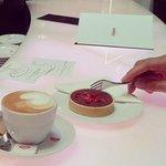 chocolate tartlet & cappuchino