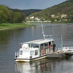 Another small ferry by the Elbe