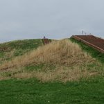 AG & RN Dots Atop Monk's Mound at Cahokia Mound State Historic Site