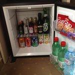 Inside the minibar