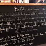 The menu for the week that we were in Paris (25th April)