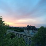 Sunset view from room, overlooking Luxembourg gardens