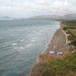 Widok na plażę od strony Kalamaki