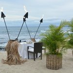 optional romantic dinner at the beach...