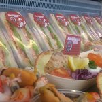 lovely sadwiches fresh every day and dressed crab salad