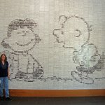 Fascinating tile mural with over 3500 comic strips