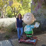 Charlie Brown Sculpture at Museum Entrance