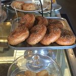 Bagels and biscuits, made on the premises.