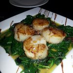 Scallops Rockefeller. Fantastic, fresh, great sauce. Special on 4/26/14