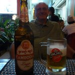 Cambodian, not Mexican, beer and the big bottle of course!