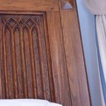Carved headboard