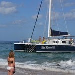 Kai Kanani pulling up to board guests at Makena Beach Golf Resort