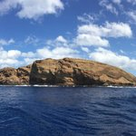 Back side of Molokini Crater
