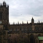 View of Manchester Cathedral from Hotel Room