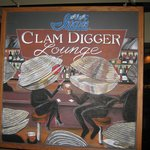 sign in clam digger lounge