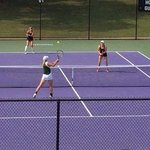 beautiful host tennis facility for collegiate tournaments