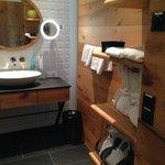 bathroom - lots of shelf space