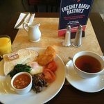 Vegetarian breakfast at Cafe Rouge.