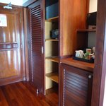 Entrance, closet, fridge area