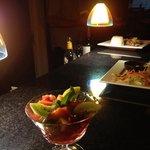 Fruit Salad Grand Marnier.