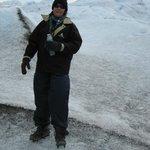 A caminhada no glaciar.