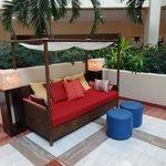 Sitting area in the atrium