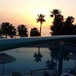 Sunset time ..... blue sky hotel.....