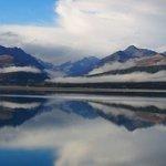 beautiful Lake Pukaki after a rainy day
