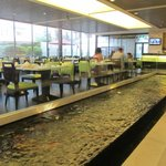 Restaurant and koi fish water feature