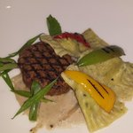 Beautiful main course of steak