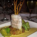 Kingfish layered with salmon mousse