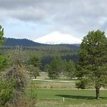 Golf course, stables and Mt. Batchelor