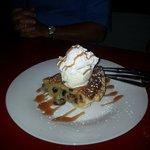 Chocolate almond pie....A terrific ending.