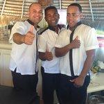 Juan Cruz, Juan Batista and Deibe Eskea from Pool Bar - Wonderful Service, So Cute!