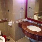 The bathroom condition....