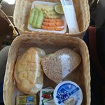 ボルブドゥールの日の出ツアーの時の朝食ランチボックス
