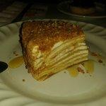 Lo mejor de la comida... el pastel de miel, fantástico!