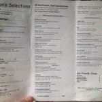 Seasons lunch menu